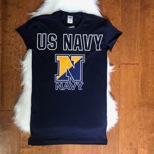 NWT PINK Victoria Secret US Navy t-shirt dress XS